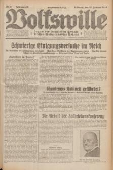 Volkswille : Organ der Deutschen Sozialistischen Arbeitspartei Polens. Jg.15, Nr. 47 (26 Februar 1930) + dod.