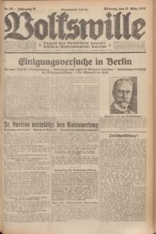 Volkswille : Organ der Deutschen Sozialistischen Arbeitspartei Polens. Jg.15, Nr. 59 (12 März 1930) + dod.