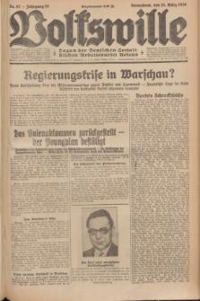 Volkswille : Organ der Deutschen Sozialistischen Arbeitspartei Polens. Jg.15, Nr. 62 (15 März 1930) + dod.