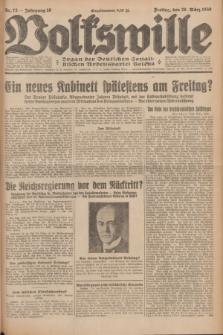 Volkswille : Organ der Deutschen Sozialistischen Arbeitspartei Polens. Jg.16 [i.e.15], Nr. 73 (28 März 1930) + dod.