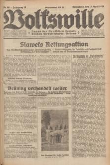 Volkswille : Organ der Deutschen Sozialistischen Arbeitspartei Polens. Jg.16 [i.e.15], Nr. 86 (12 April 1930) + dod.