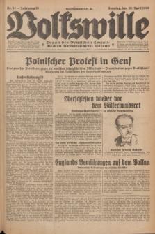 Volkswille : Organ der Deutschen Sozialistischen Arbeitspartei Polens. Jg.16 [i.e.15], Nr. 93 (20 April 1930) + dod.