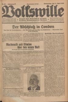 Volkswille : Organ der Deutschen Sozialistischen Arbeitspartei Polens. Jg.16 [i.e.15], Nr. 95 (24 April 1930) + dod.