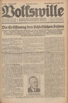 Volkswille : Organ der Deutschen Sozialistischen Arbeitspartei Polens. Jg.16 [i.e.15], Nr. 123 (29 Mai 1930) + dod.