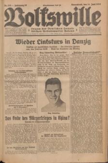 Volkswille : Organ der Deutschen Sozialistischen Arbeitspartei Polens. Jg.16 [i.e.15], Nr. 135 (14 Juni 1930) + dod.