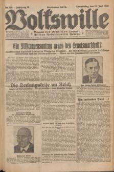 Volkswille : Organ der Deutschen Sozialistischen Arbeitspartei Polens. Jg.16 [i.e.15], Nr. 139 (19 Juni 1930) + dod.