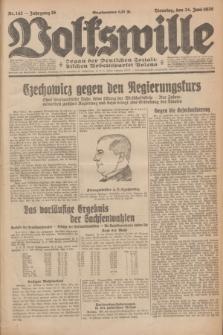 Volkswille : Organ der Deutschen Sozialistischen Arbeitspartei Polens. Jg.16 [i.e.15], Nr. 142 (24 Juni 1930) + dod.