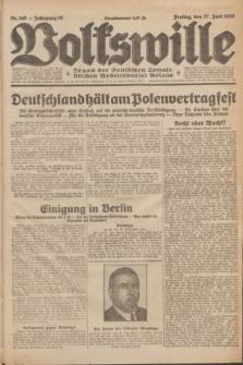 Volkswille : Organ der Deutschen Sozialistischen Arbeitspartei Polens. Jg.16 [i.e.15], Nr. 145 (27 Juni 1930) + dod.