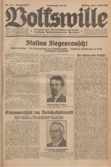 Volkswille : organ der Deutschen Sozialistischen Arbeitspartei Polens. Jg.16 [i.e.15], Nr. 151 (4 Juli 1930) + dod.