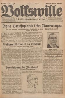 Volkswille : organ der Deutschen Sozialistischen Arbeitspartei Polens. Jg.16 [i.e.15], Nr. 155 (9 Juli 1930) + dod.