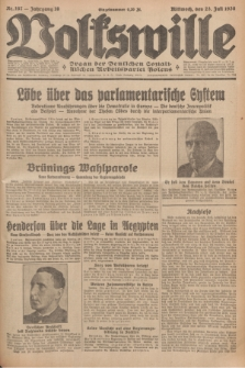 Volkswille : organ der Deutschen Sozialistischen Arbeitspartei Polens. Jg.16 [i.e.15], Nr. 167 (23 Juli 1930) + dod.