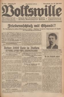 Volkswille : organ der Deutschen Sozialistischen Arbeitspartei Polens. Jg.16 [i.e.15], Nr. 170 (26 Juli 1930) + dod.