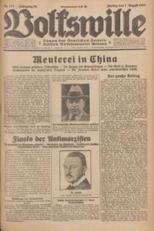Volkswille : organ der Deutschen Sozialistischen Arbeitspartei Polens. Jg.16 [i.e.15], Nr. 175 (1 August 1930) + dod.