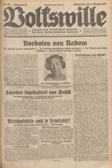 Volkswille : organ der Deutschen Sozialistischen Arbeitspartei Polens. Jg.16 [i.e.15], Nr. 182 (9 August 1930) + dod.