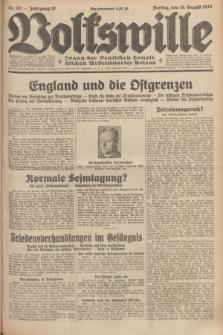 Volkswille : organ der Deutschen Sozialistischen Arbeitspartei Polens. Jg.16 [i.e.15], Nr. 187 (15 August 1930) + dod.