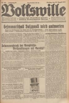 Volkswille : organ der Deutschen Sozialistischen Arbeitspartei Polens. Jg.16 [i.e.15], Nr. 198 (29 August 1930) + dod.