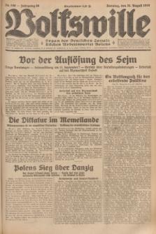 Volkswille : organ der Deutschen Sozialistischen Arbeitspartei Polens. Jg.16 [i.e.15], Nr. 200 (31 August 1930) + dod.