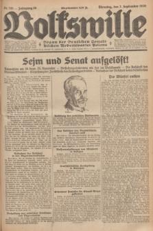 Volkswille : organ der Deutschen Sozialistischen Arbeitspartei Polens. Jg.16 [i.e.15], Nr. 201 (2 September 1930) + dod.