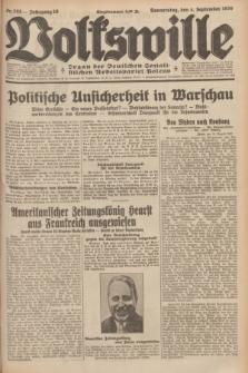 Volkswille : organ der Deutschen Sozialistischen Arbeitspartei Polens. Jg.16 [i.e.15], Nr. 203 (4 September 1930) + dod.