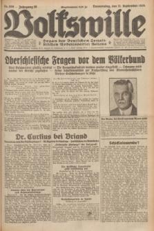 Volkswille : Organ der Deutschen Sozialistischen Arbeitspartei Polens. Jg.16 [i.e.15], Nr. 209 (11 September 1930) + dod.
