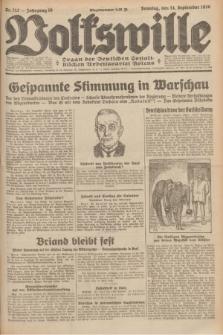 Volkswille : Organ der Deutschen Sozialistischen Arbeitspartei Polens. Jg.16 [i.e.15], Nr. 212 (14 September 1930) + dod.