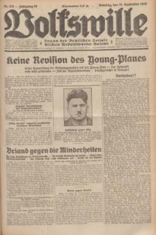 Volkswille : Organ der Deutschen Sozialistischen Arbeitspartei Polens. Jg.16 [i.e.15], Nr. 218 (21 September 1930) + dod.