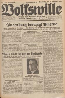 Volkswille : Organ der Deutschen Sozialistischen Arbeitspartei Polens. Jg.16 [i.e.15], Nr. 221 (25 September 1930) + dod.