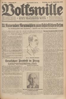 Volkswille : Organ der Deutschen Sozialistischen Arbeitspartei Polens. Jg.16 [i.e.15], Nr. 224 (28 September 1930) + dod.