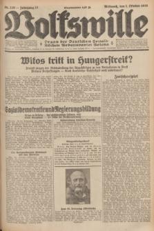Volkswille : Organ der Deutschen Sozialistischen Arbeitspartei Polens. Jg.16 [i.e.15], Nr. 226 (1 Oktober 1930) + dod.