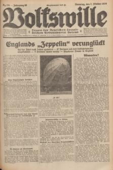 Volkswille : organ der Deutschen Sozialistischen Arbeitspartei Polens. Jg.16 [i.e.15], Nr. 231 (7 October 1930) + dod.