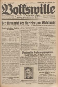 Volkswille : organ der Deutschen Sozialistischen Arbeitspartei Polens. Jg.16 [i.e.15], Nr. 233 (9 October 1930) + dod.