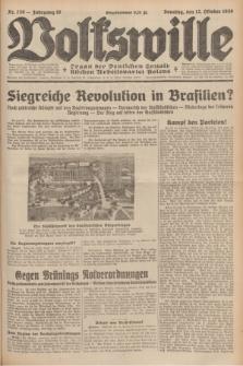 Volkswille : organ der Deutschen Sozialistischen Arbeitspartei Polens. Jg.16 [i.e.15], Nr. 236 (12 October 1930) + dod.