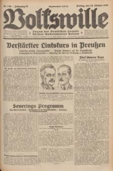 Volkswille : Organ der Deutschen Sozialistischen Arbeitspartei Polens. Jg.16 [i.e.15], Nr. 246 (24 Oktober 1930) + dod.