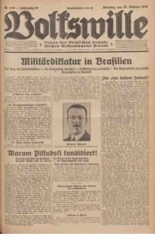 Volkswille : Organ der Deutschen Sozialistischen Arbeitspartei Polens. Jg.16 [i.e.15], Nr. 248 (26 Oktober 1930) + dod.