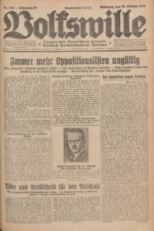 Volkswille : Organ der Deutschen Sozialistischen Arbeitspartei Polens. Jg.16 [i.e.15], Nr. 250 (29 Oktober 1930) + dod.