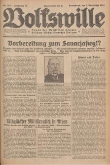 Volkswille : Organ der Deutschen Sozialistischen Arbeitspartei Polens. Jg.16 [i.e.15], Nr. 253 (1 November 1930) + dod.