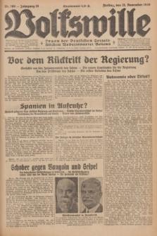 Volkswille : organ der Deutschen Sozialistischen Arbeitspartei Polens. Jg.16 [i.e.15], Nr. 269 (21 November 1930) + dod.