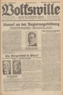 Volkswille : Organ der Deutschen Sozialistischen Arbeitspartei Polens. Jg.16 [i.e.15], Nr. 278 (2 Dezember 1930) + dod.