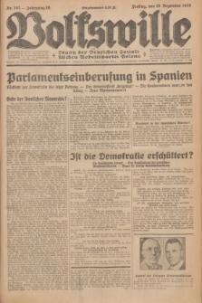 Volkswille : Organ der Deutschen Sozialistischen Arbeitspartei Polens. Jg.16 [i.e.15], Nr. 292 (19 Dezember 1930) + dod.