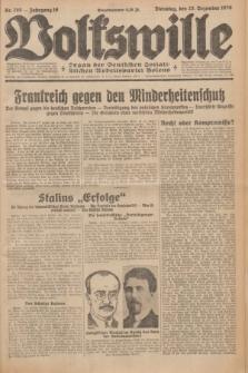 Volkswille : Organ der Deutschen Sozialistischen Arbeitspartei Polens. Jg.16 [i.e.15], Nr. 295 (23 Dezember 1930) + dod.