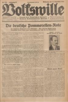Volkswille : Organ der Deutschen Sozialistischen Arbeitspartei Polens. Jg.16 [i.e.15], Nr. 296 (24 Dezember 1930) + dod.