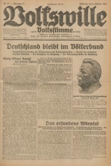 Volkswille : zugleich Volksstimme für Bielitz : Organ der Deutschen Sozialistischen Arbeitspartei in Polen. Jg.17, Nr. 27 (4 Februar 1931) + dod.