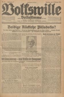 Volkswille : zugleich Volksstimme für Bielitz : Organ der Deutschen Sozialistischen Arbeitspartei in Polen. Jg.17, Nr. 31 (8 Februar 1931) + dod.