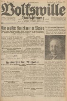 Volkswille : zugleich Volksstimme für Bielitz : Organ der Deutschen Sozialistischen Arbeitspartei in Polen. Jg.17, Nr. 48 (28 Februar 1931) + dod.