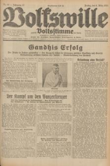 Volkswille : zugleich Volksstimme für Bielitz : Organ der Deutschen Sozialistischen Arbeitspartei in Polen. Jg.17, Nr. 53 (6 März 1931) + dod.