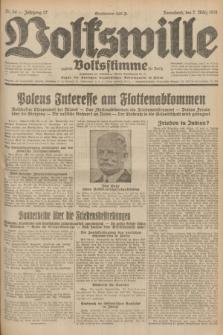 Volkswille : zugleich Volksstimme für Bielitz : Organ der Deutschen Sozialistischen Arbeitspartei in Polen. Jg.17, Nr. 54 (7 März 1931) + dod.