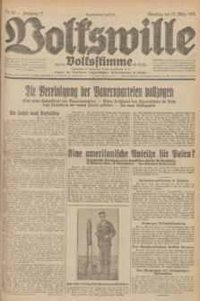 Volkswille : zugleich Volksstimme für Bielitz : Organ der Deutschen Sozialistischen Arbeitspartei in Polen. Jg.17, Nr. 62 (17 März 1931) + dod.
