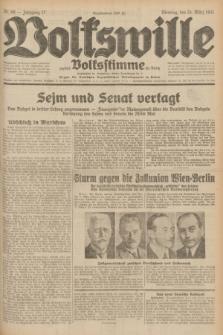 Volkswille : zugleich Volksstimme für Bielitz : Organ der Deutschen Sozialistischen Arbeitspartei in Polen. Jg.17, Nr. 68 (24 März 1931) + dod.