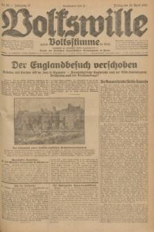 Volkswille : zugleich Volksstimme für Bielitz : Organ der Deutschen Sozialistischen Arbeitspartei in Polen. Jg.17, Nr. 82 (10 April 1931) + dod.