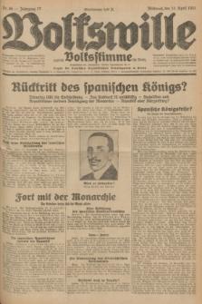 Volkswille : zugleich Volksstimme für Bielitz : Organ der Deutschen Sozialistischen Arbeitspartei in Polen. Jg.17, Nr. 86 (15 April 1931) + dod.